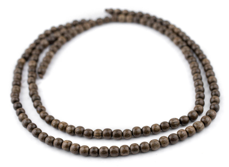 Round Natural Graywood Beads (6mm) - The Bead Chest