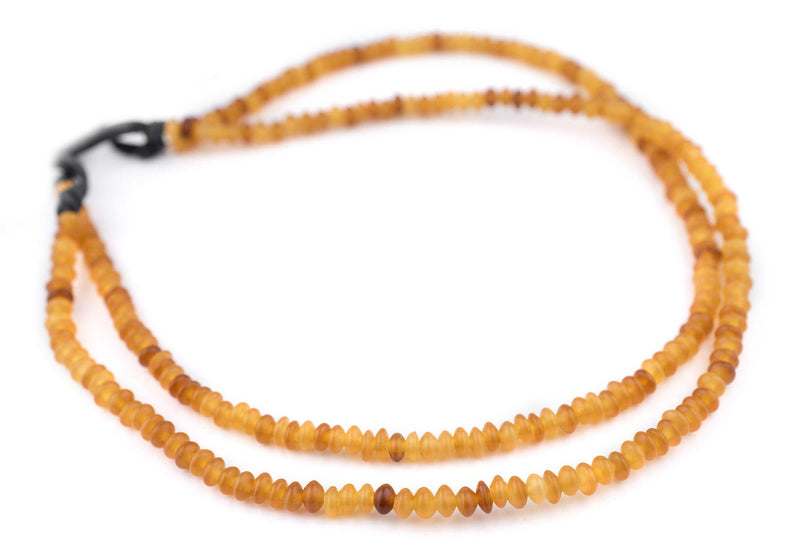 Amber Saucer Horn Beads (6mm) - The Bead Chest