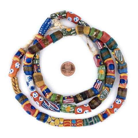 Image of Traditional Medley Krobo Beads (Long Strand) - The Bead Chest