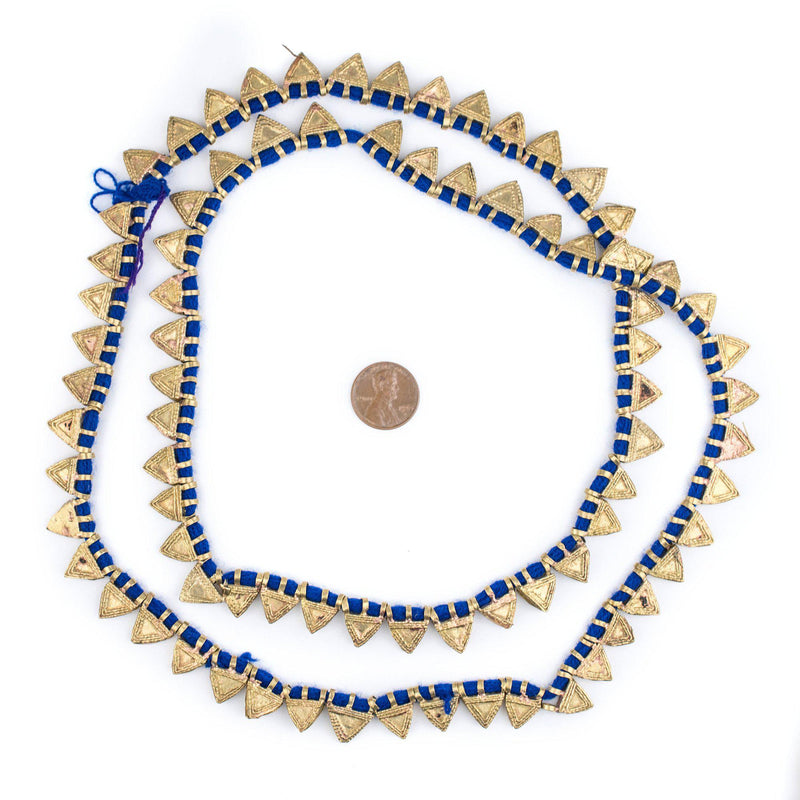 Brass Ethiopian Telsum Beads (Long Strand) - The Bead Chest