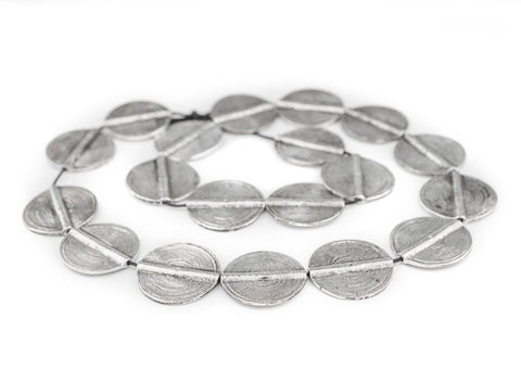 Silver Sun Baule Beads (33x27mm) - The Bead Chest