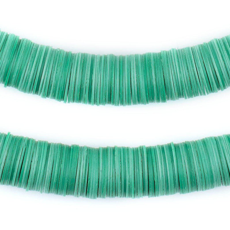 Turquoise Vinyl Phono Record Beads (14mm) - The Bead Chest