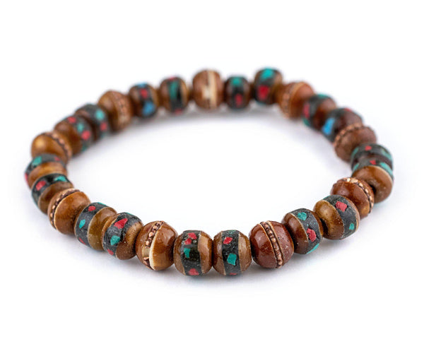 Honey Brown Nepal Mala Bracelet