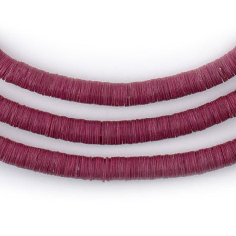 Image of Plum Purple Vinyl Phono Record Beads (6mm) - The Bead Chest