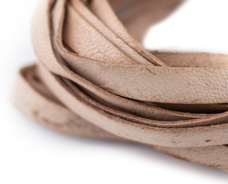 6.0mm Natural Flat Leather Cord (15ft)