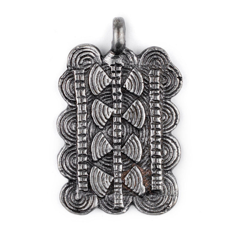 Silver Thousand Sun Baule Pendant (38x60mm) - The Bead Chest