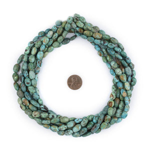 Green Turquoise Oval Beads (12x8mm) - The Bead Chest