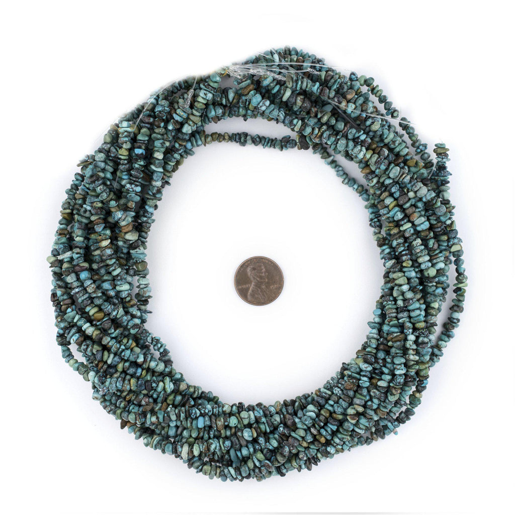 Turquoise Chip Beads (4mm) - The Bead Chest