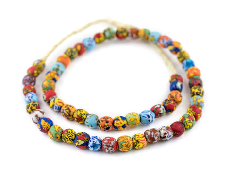 Image of House Medley Round Fused Recycled Glass Beads (11mm) - The Bead Chest