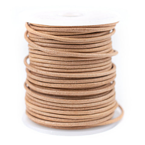 2.0mm Natural Round Leather Cord (75ft)