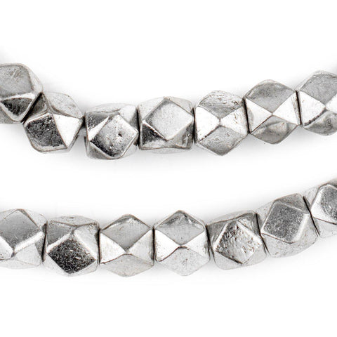 Image of Jumbo Silver Diamond Cut Beads (9mm) - The Bead Chest