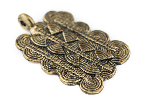 Image of Brass Thousand Sun Baule Pendant (38x60mm) - The Bead Chest