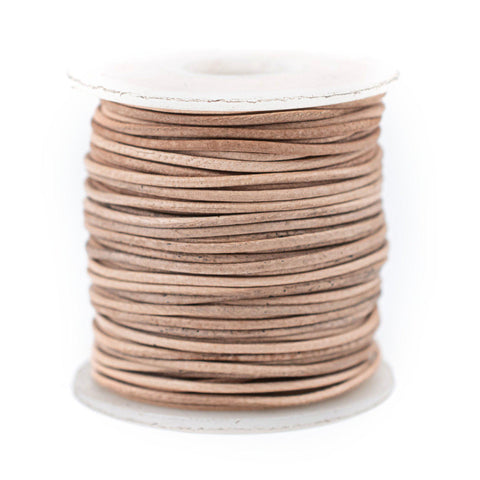 1.0mm Natural Round Leather Cord (75ft)