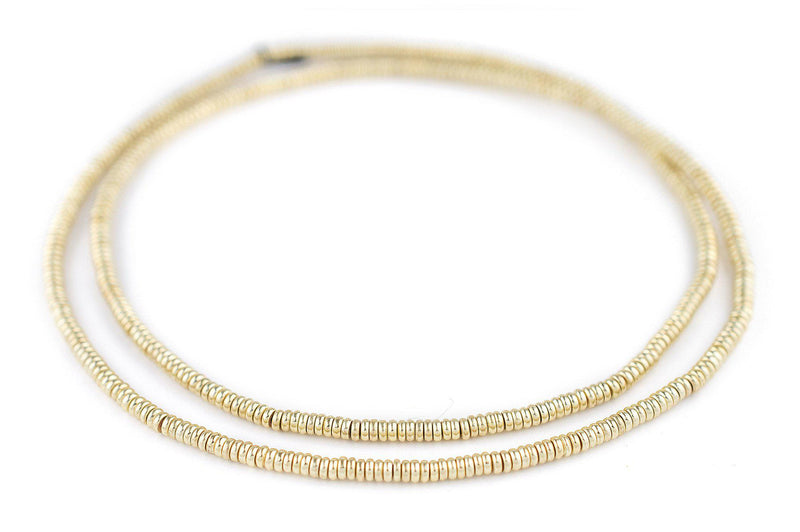 Gold Smooth Heishi Beads (3mm) - The Bead Chest