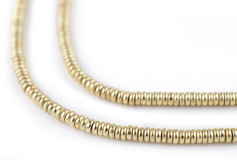 Image of Gold Smooth Heishi Beads (3mm) - The Bead Chest