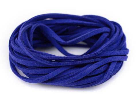 3mm Flat Cobalt Blue Faux Suede Cord (15ft)