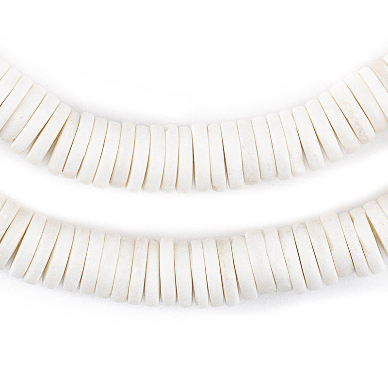 White Bone Button Beads (10mm) - The Bead Chest