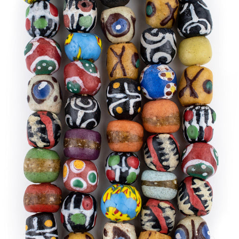 Fancy Venetian-Style Round Krobo Beads - The Bead Chest