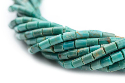 Cylindrical Heishi Turquoise Beads (5x3mm) - The Bead Chest