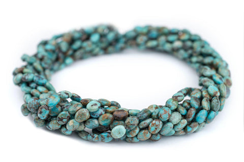Oval Turquoise Stone Beads (8x5mm) - The Bead Chest