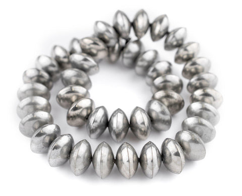Ethiopian Silver Saucer Beads (24mm) - The Bead Chest