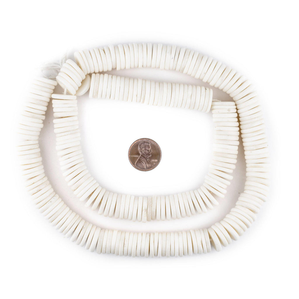 White Bone Button Beads (14mm) - The Bead Chest