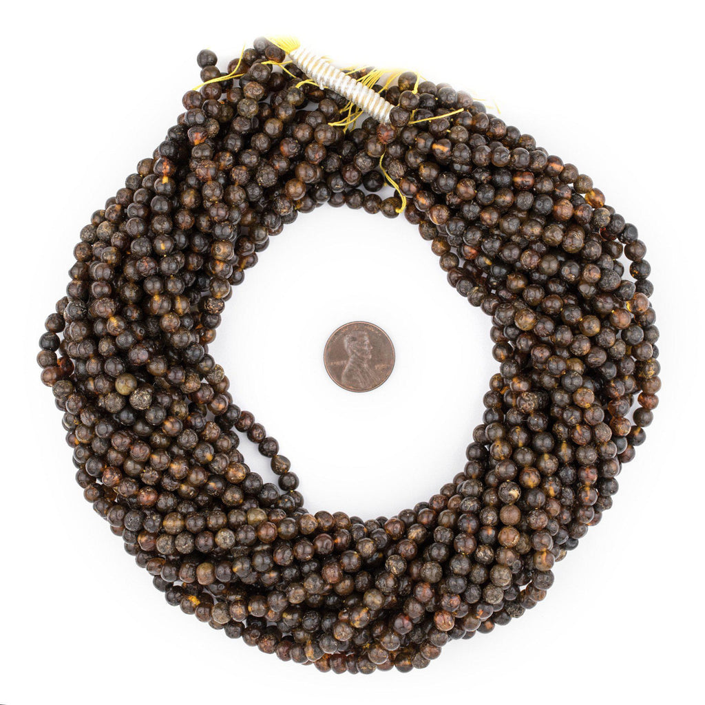 Rustic Natural Amber Beads (5mm) - The Bead Chest