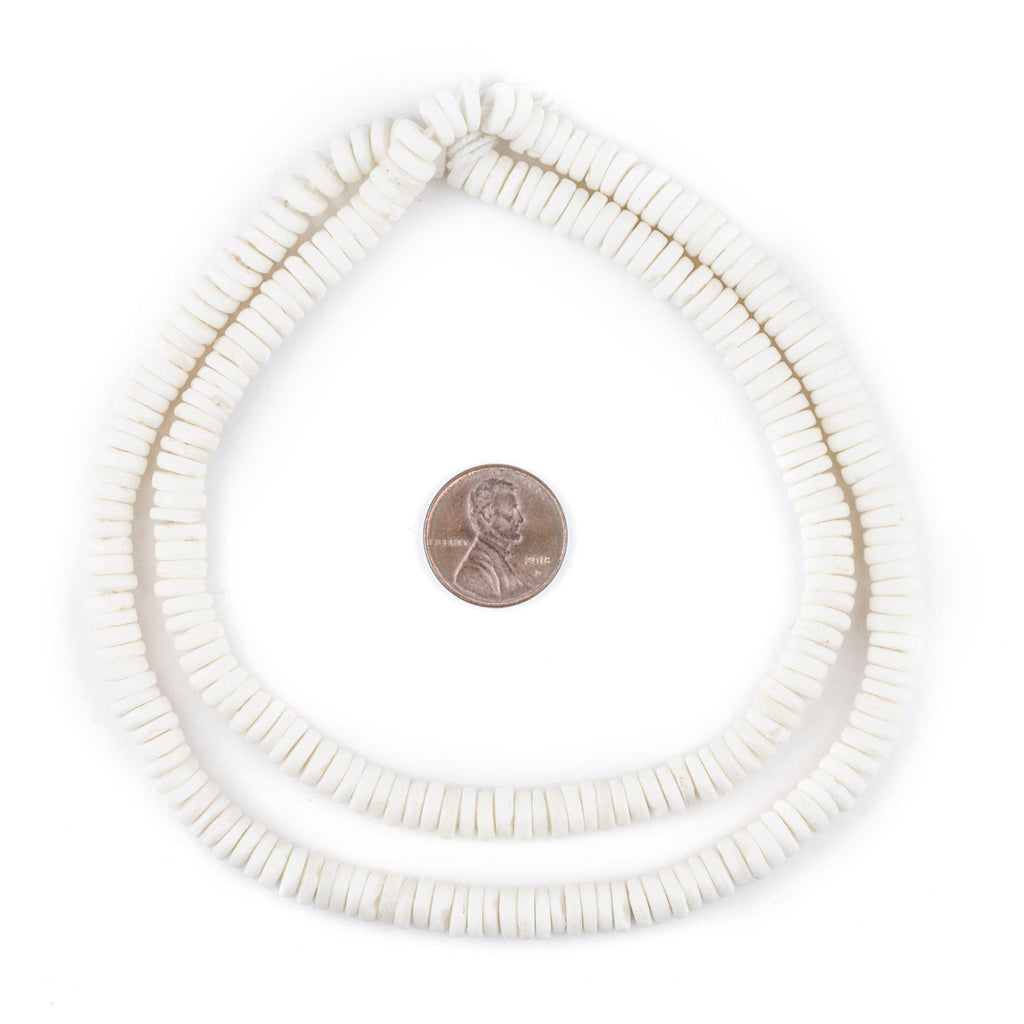 White Bone Button Beads (6mm) - The Bead Chest