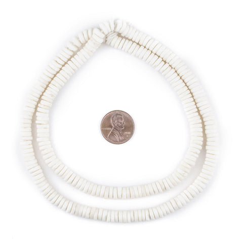Image of White Bone Button Beads (6mm) - The Bead Chest