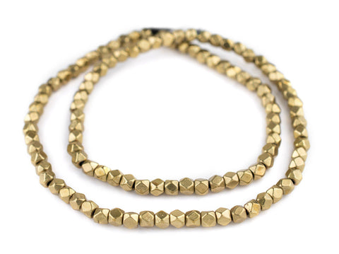 Brass Diamond Cut Beads (6mm) - The Bead Chest