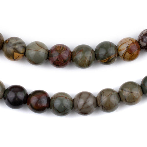 Round Creek Jasper Beads (Large Hole) (10mm)