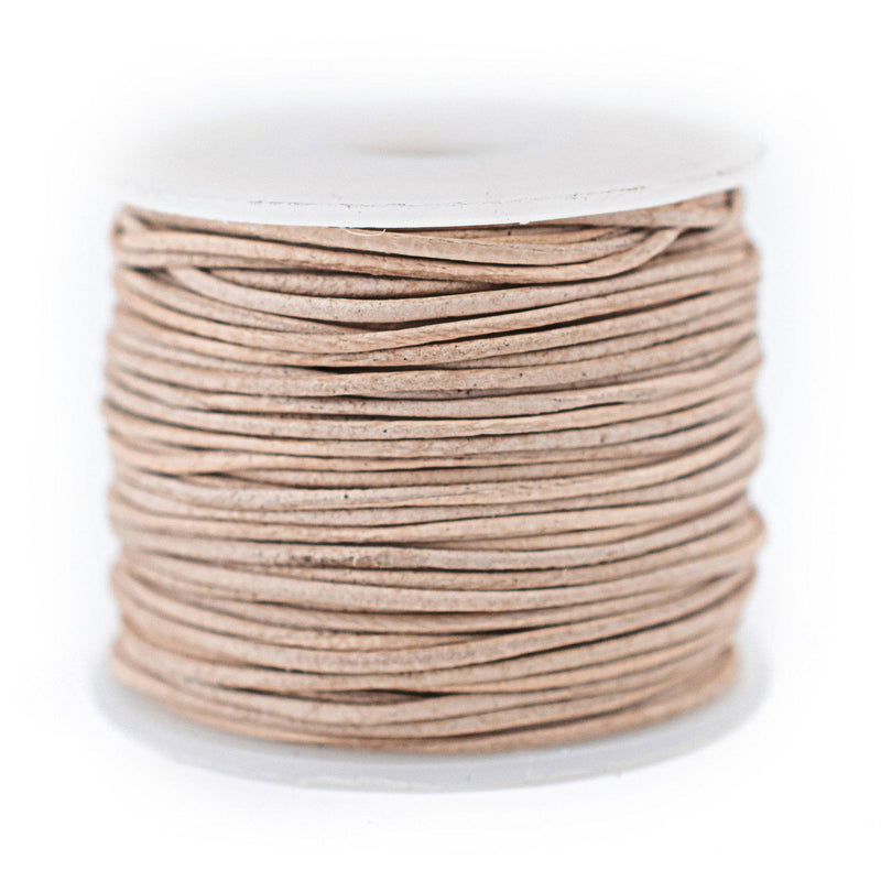 0.8mm Natural Round Leather Cord (75ft)