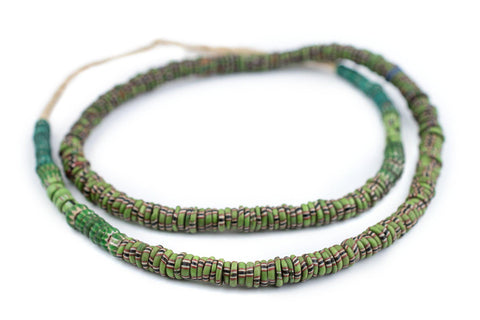 Image of Green Venetian Aja Beads (8mm) - The Bead Chest
