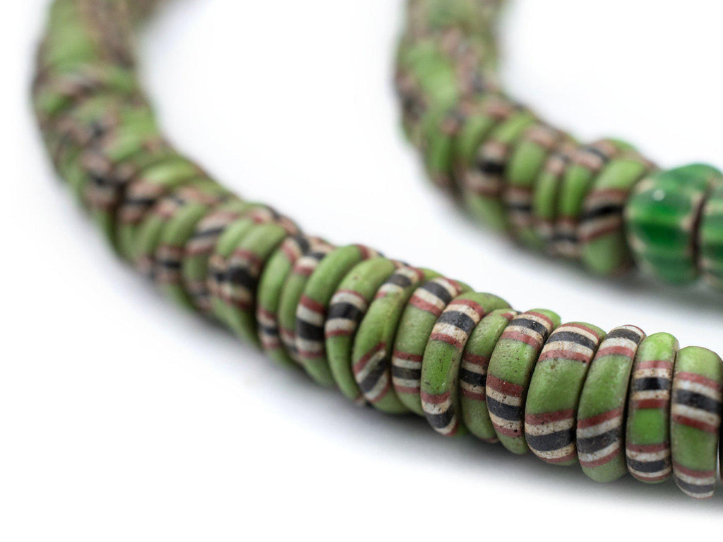 Green Venetian Aja Beads (8mm) - The Bead Chest