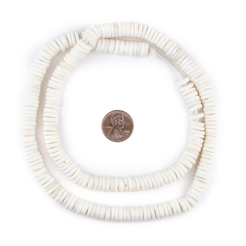 White Bone Button Beads (8mm) - The Bead Chest