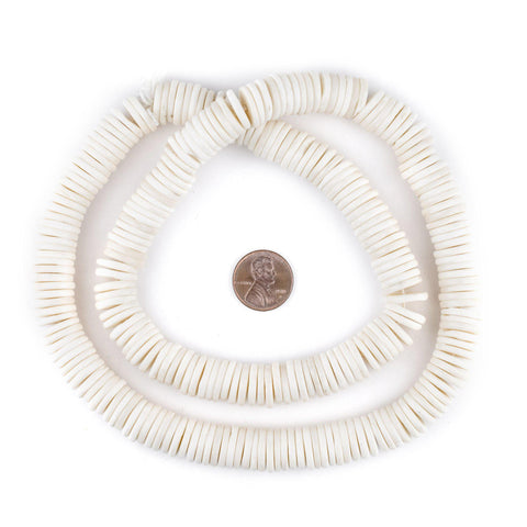 Image of White Bone Button Beads (12mm) - The Bead Chest