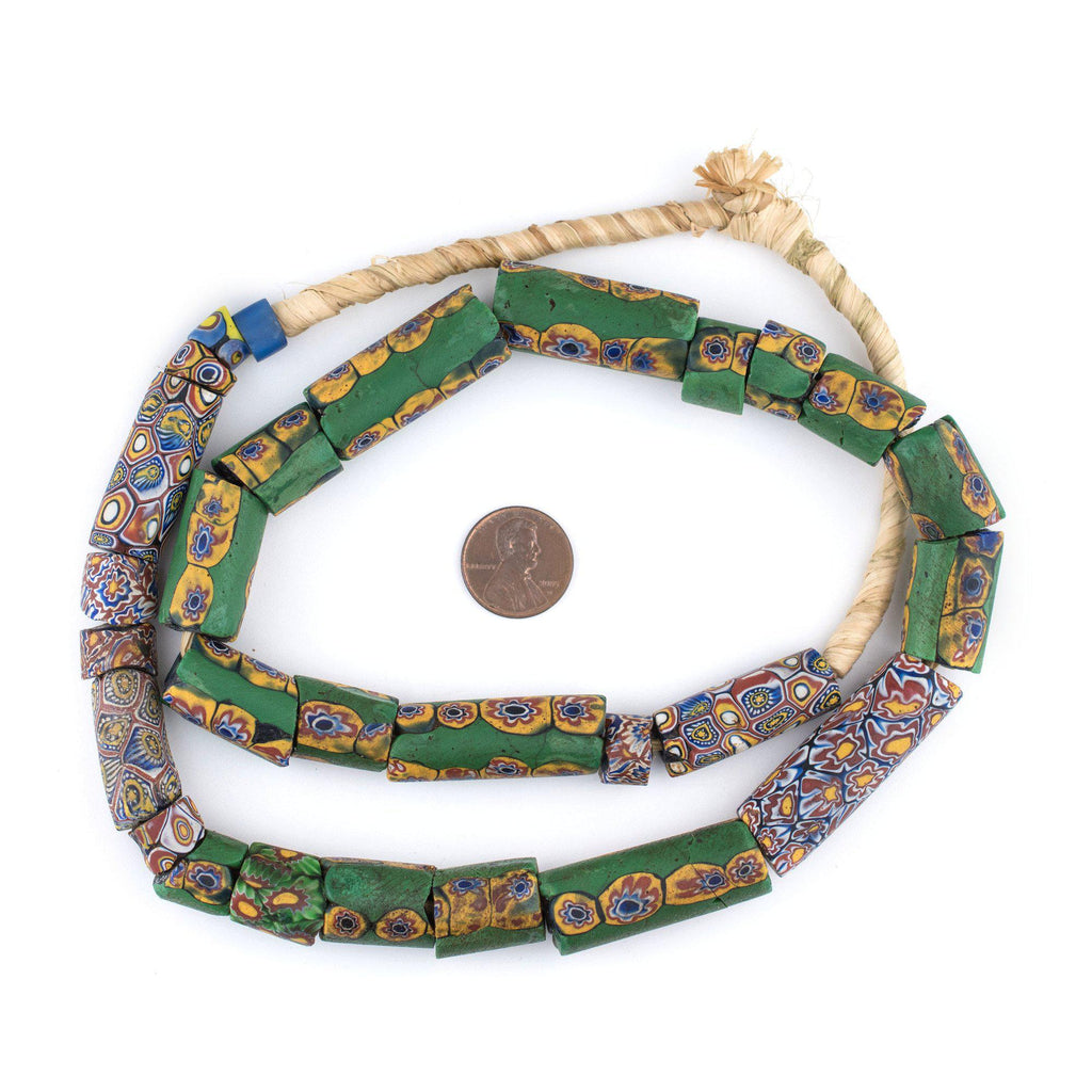 Antique Venetian Millefiori African Trade Beads (Value Strand) - The Bead Chest