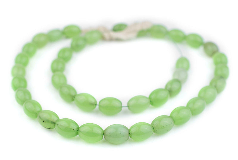 Vintage Translucent Green Colodonte Beads - The Bead Chest