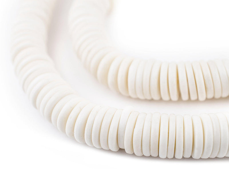 White Bone Button Beads (12mm) - The Bead Chest