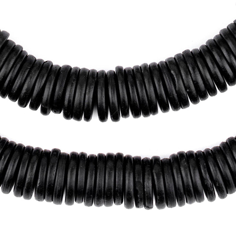 Black Bone Button Beads (12mm) - The Bead Chest