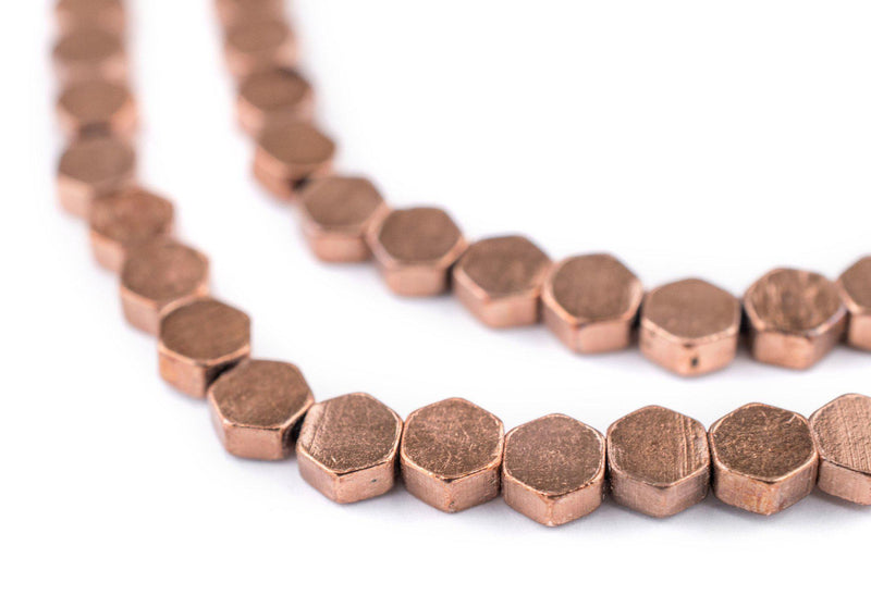 Hexagonal Copper Beads (6mm) - The Bead Chest