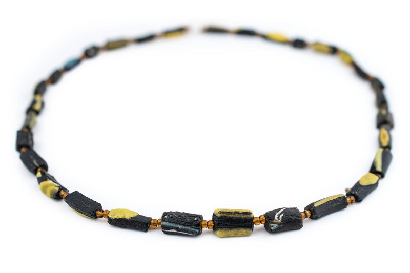 Black Roman Glass Bangle Beads - The Bead Chest