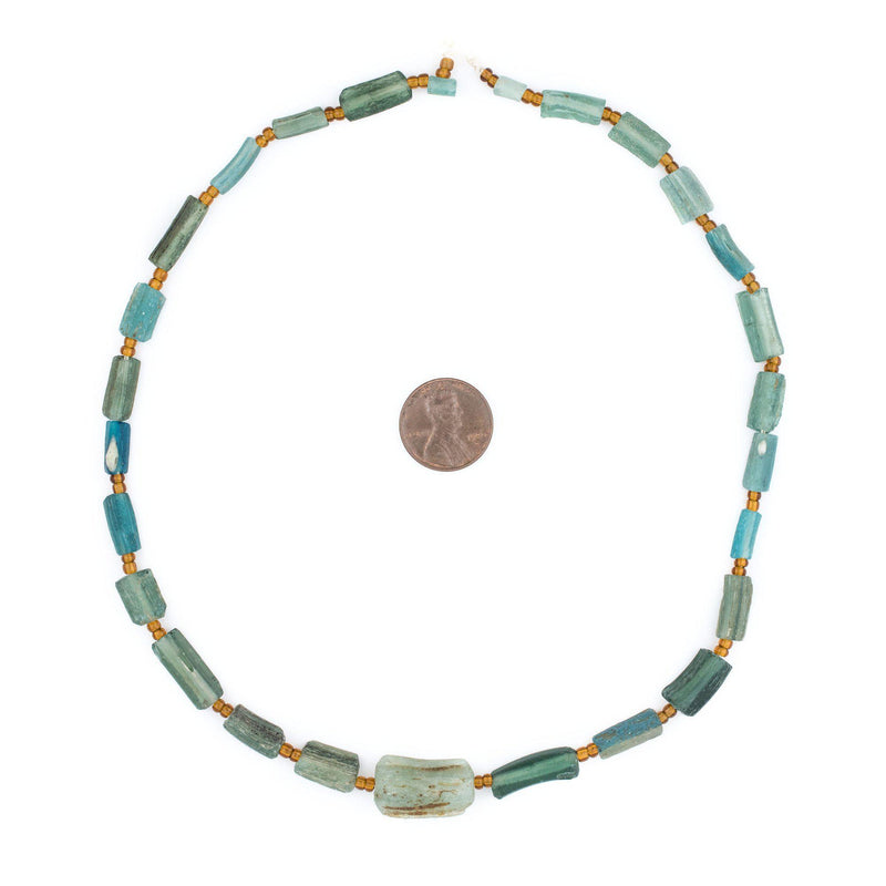 Green Roman Glass Bangle Beads - The Bead Chest
