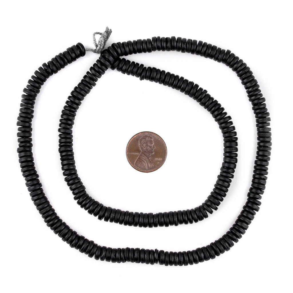 Black Bone Button Beads (6mm) - The Bead Chest