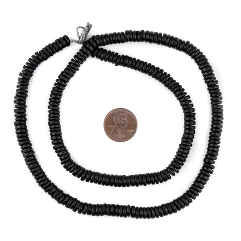 Image of Black Bone Button Beads (6mm) - The Bead Chest