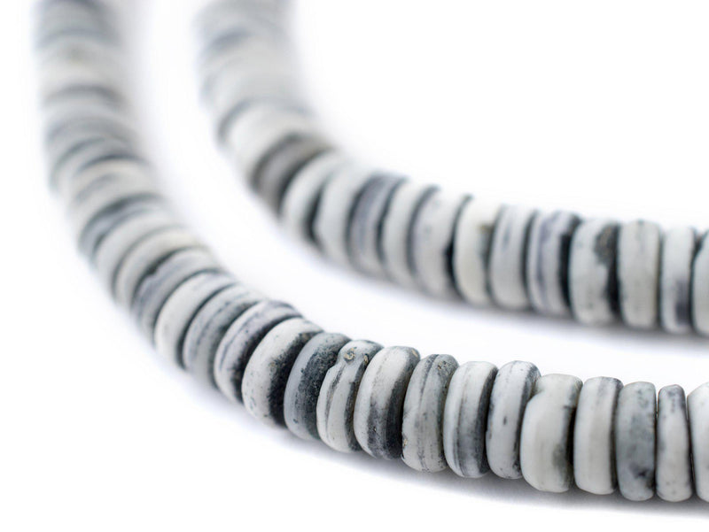 Light Grey Bone Button Beads (6mm) - The Bead Chest
