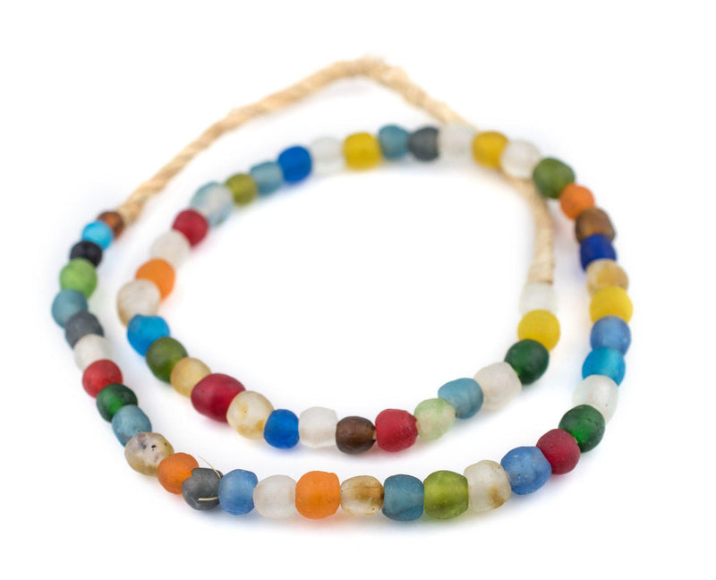 Multicolor Recycled Glass Beads (9mm) - The Bead Chest