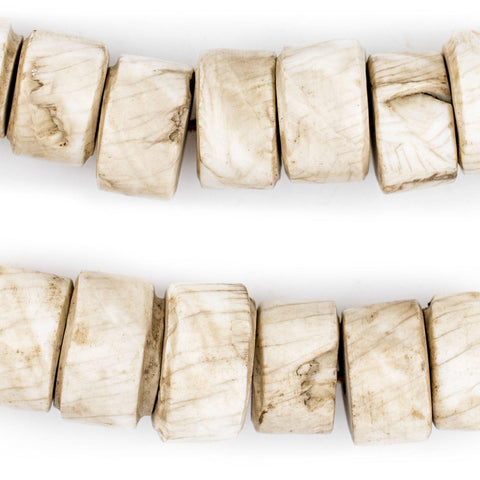 Image of Cylindrical Naga Conch Shell Beads (16mm) - The Bead Chest