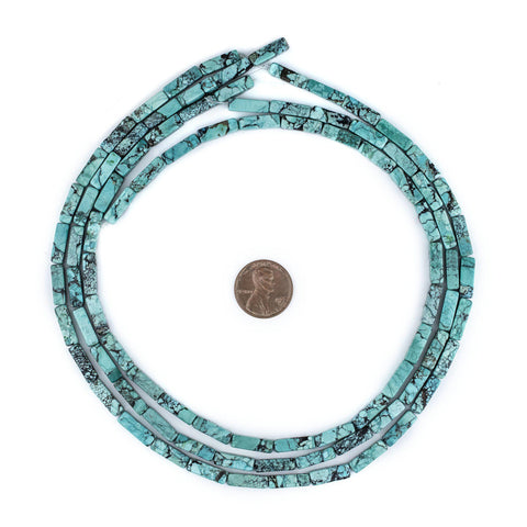 Rectangular Turquoise Stone Beads (13x4mm) - The Bead Chest