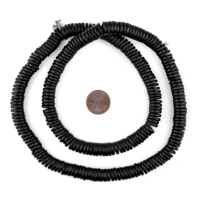 Black Bone Button Beads (10mm) - The Bead Chest